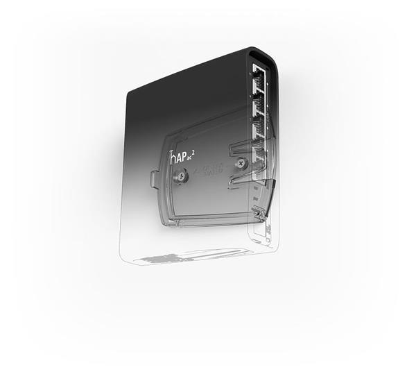 MIKROTIK RouterBOARD hAP AC2 + L4 (716MHz; 128MB RAM, 5xGLAN switch, 1x 2,4+5GHz 802.11ac plastic case, zdroj)