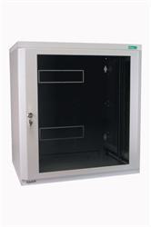"MOELLER / EATON 19"" rozvádzač nástenný 2-D NWE 6U/410mm, skl.dvere, cylindr, šedý"