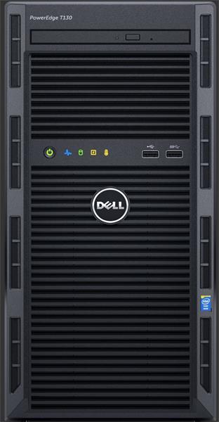 "Power Edge T130/Chassis 4 x 3.5""/Xeon E3-1230 v6/8GB/1TB/Bezel/DVD RW/On-Board LOM DP/PERC H330/iDRAC8 Bas/3Y Basic NBD"