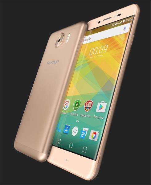"""Prestigio Multiphone Grace Z5 5.3""""IPS 1280x720 1/8GB 1.3GHz 2600mAh Wifi BT GPS CAM 8/13Mpx Android 6.0 DUAL SIM ZLATY"""