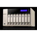QNAP™ TVS-863-4G 8bay 4GB 2x G LAN GX-424CC quad-core 2.4 GHz