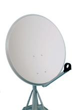 satelitní parabolická anténa prům. 80cm (Aluminium) - montážna sada