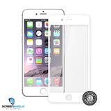 ScreenShield Tempered Glass iPhone 6S White (full cover with silicon ring) - Film for display protection