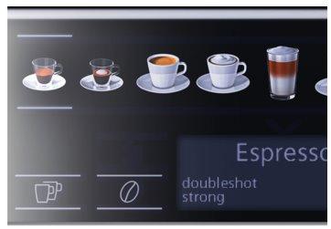 SIEMENS_15 bar, sensoFlow, aromaDouble Shot, farebný displej coffeeSelect, keramický mlynček, 2 šálky naraz