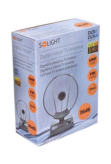 Solight izbová anténa, priemer 23cm, max. zosilnenie: 36dB
