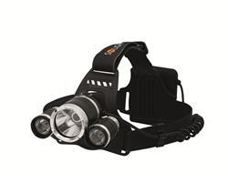 Solight LED čelové svietidlo SUPER POWER, 900lm, 3x Cree LED, 4 x AA