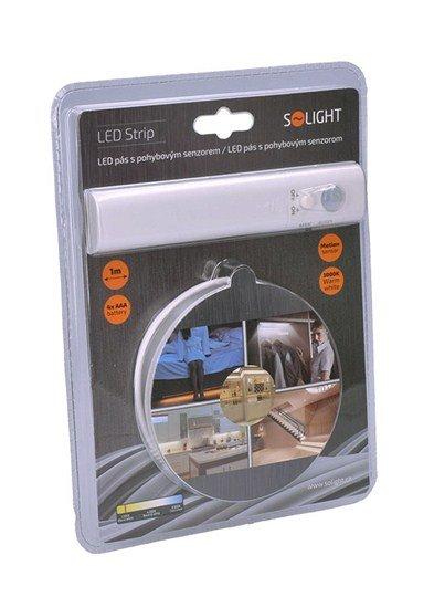Solight LED svetelný pás s pohybovým senzorom, 1m, 4x AAA