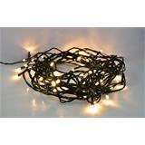Solight LED vianočná reťaz, 60 LED, 10m, prívod 3m, IP20, teplá biela