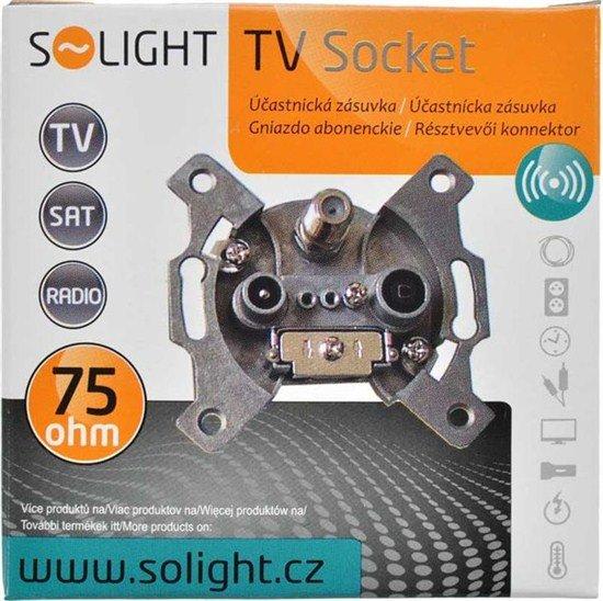 Solight účastnícka zásuvka priebežná so SAT, útlm: 7dB
