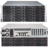 "Supermicro® Chassis CSE-847BE1C-R1K28LPB, 4U, 36x 3.5"" H/swap SAS/SATA Drive Bays, 1280W Redundant PSU - Black"