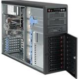 "Supermicro® CSE-743T-R760B Tower/8 x 3.5"" SAS/SATA Hot-swappable/4U chassis redundant 2+1 760W"