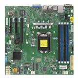 Supermicro MB 1xLGA1151 (Xeon E-21xx,i3), C242, 4xDDR4, 6xSATA3, M.2, 3xPCIe3.0 (x8, 2 x4), VGA, 2x LAN, IPMI