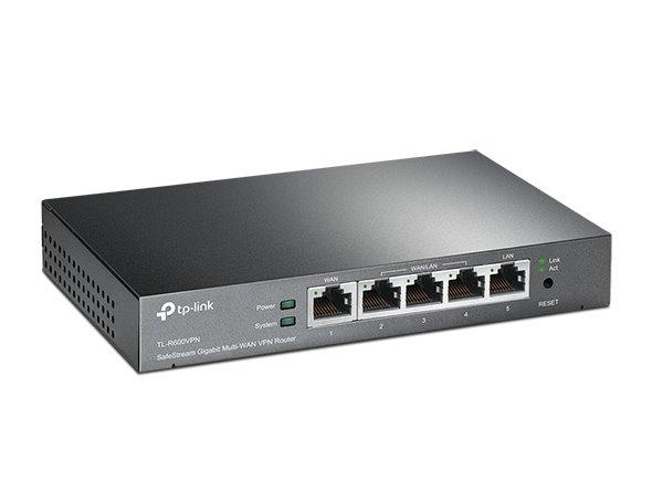 TP-LINK TL-R600VPN SafeStream™ Multi-WAN VPN Router, 1 Fixed Gigabit WAN Port + 3 Configurable Gigabit WAN/LAN Ports