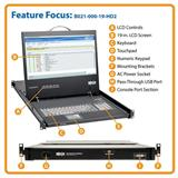 TrippLite 1U Rack-Mount Console with 19 in. LCD, 1920 x 1080 (1080p), DVI or VGA Video, TAA