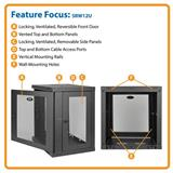 TrippLite SMARTRACK™ Series 12U Wall-Mount Rack Enclosure Cabinet