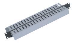"""TRITON 19"""" vyväzovací panel 1U obojstranná plastová lišta, čierny RAL9005"""