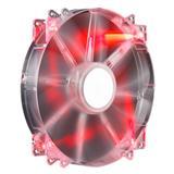ventilátor Coolermaster 200x200x30 Mega Flow, LED červená transparent 19dBA