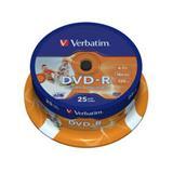 Verbatim - DVD-R 4,7GB 16x Printable 25ks v cake obale