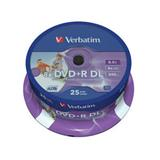 Verbatim - DVD+R 8,5GB 8x Dual Layer Printable 25ks v cake obale